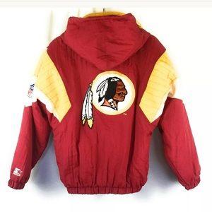 Starter NFL Redskins Jacket Puffer Unisex Football